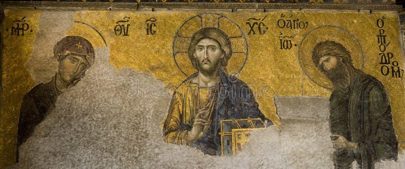 De Mozaïeken van Deesis stock afbeeldingen
