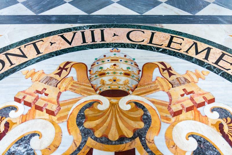 De mozaïekvloer van de basiliek van St Giovanni in Rome sy royalty-vrije stock foto