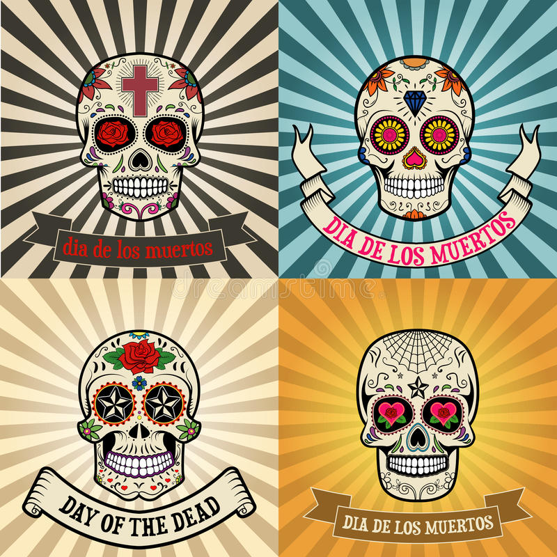 de muertos Dia Los ilustracja wektor