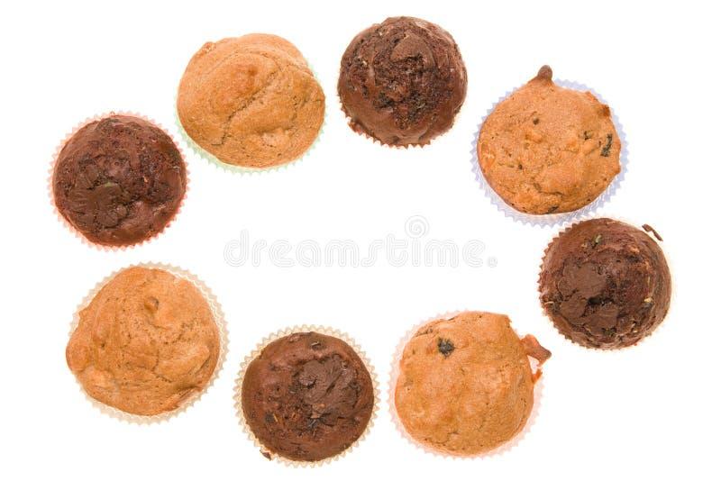 De muffinsframe van de chocolade royalty-vrije stock afbeelding