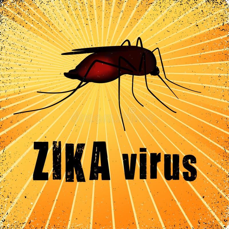 De Mug van het Zikavirus, Aedes aegypti royalty-vrije illustratie