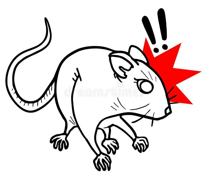 De muis van de verrassing stock illustratie