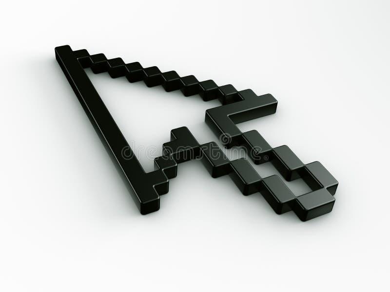 De muiscurseur van de pijl in 3d vector illustratie