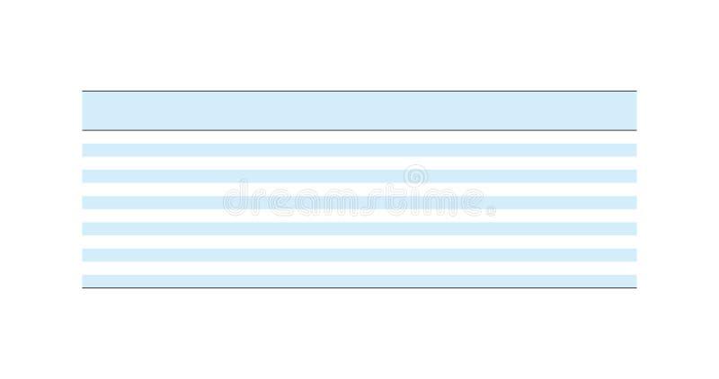 De multifunctionele lege schone versie van het tabelindelingmalplaatje Vector illustratie die op witte achtergrond wordt geïsolee royalty-vrije illustratie