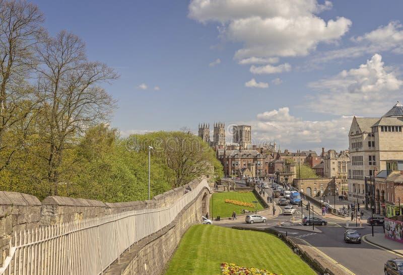 De Munster van York van de stadsmuren stock foto