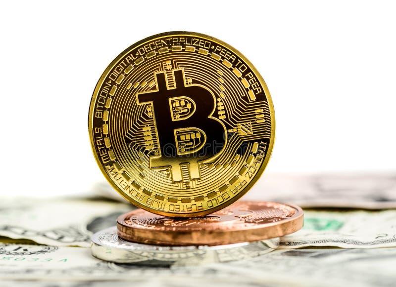 De munt van Bitcoincripto royalty-vrije stock afbeelding