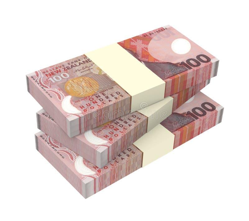 De munt van Nieuw Zeeland op witte achtergrond wordt geïsoleerd die vector illustratie