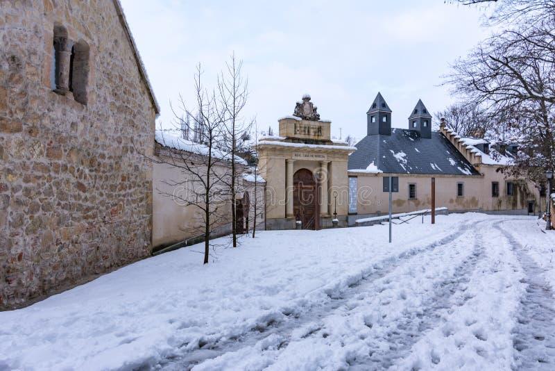 De muntstukfabriek in Segovia (Spanje), het oudste industriële gebouw in Europa royalty-vrije stock fotografie