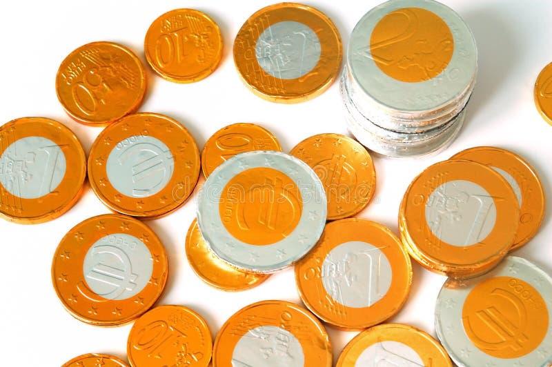 De muntstukken van Choco royalty-vrije stock foto