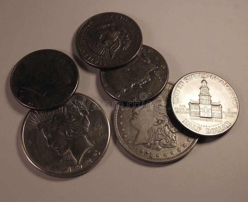 De muntstukken van de V.S. stock afbeeldingen