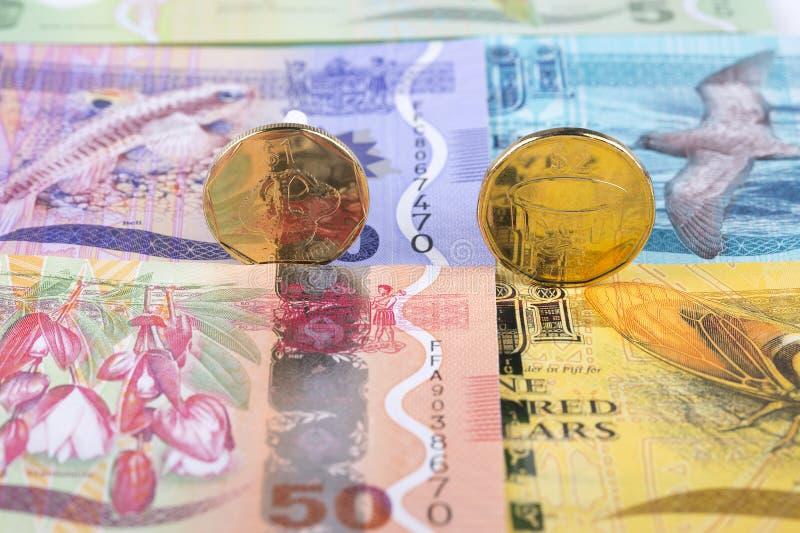 De muntstukken van de Fijiandollar
