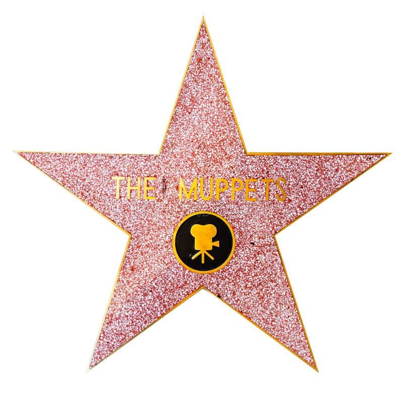 De Muppets-ster op Hollywood-Gang van Bekendheid stock afbeeldingen