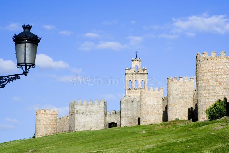 De Muren en de Lamp van de stad royalty-vrije stock fotografie