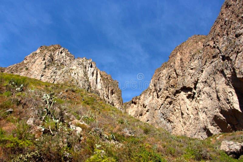De muren van de Colca-Canion royalty-vrije stock afbeeldingen