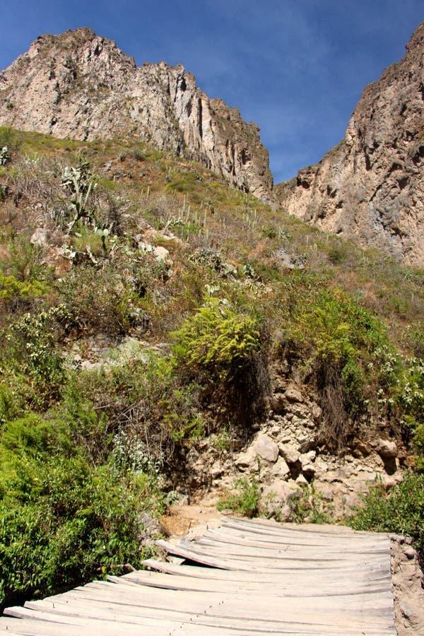De muren van de Colca-Canion royalty-vrije stock fotografie