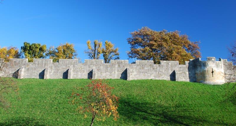 De Muren van de Stad van York, het UK royalty-vrije stock afbeeldingen