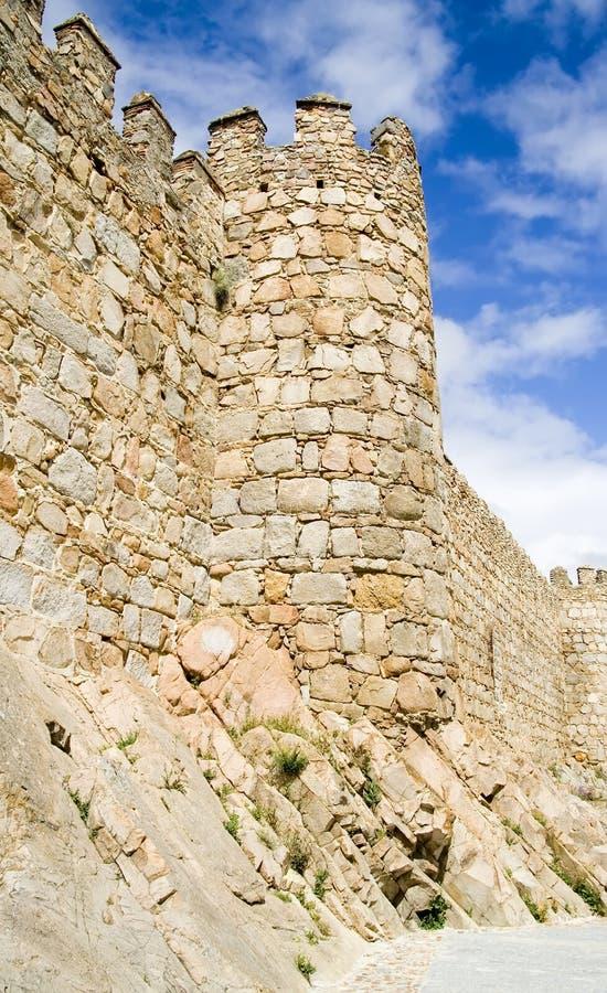 De Muren van de steen stock afbeeldingen