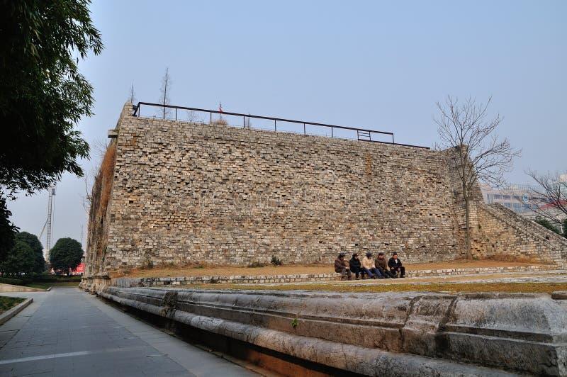 De muren van de Xi'anstad stock fotografie