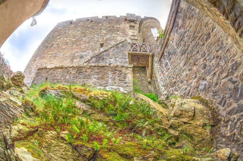 De muren van Eileandonan royalty-vrije stock foto's
