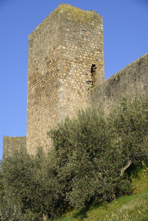 De muren van Monteriggioni royalty-vrije stock foto