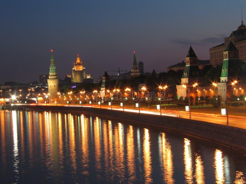 De muren van Moskou het Kremlin. stock afbeeldingen