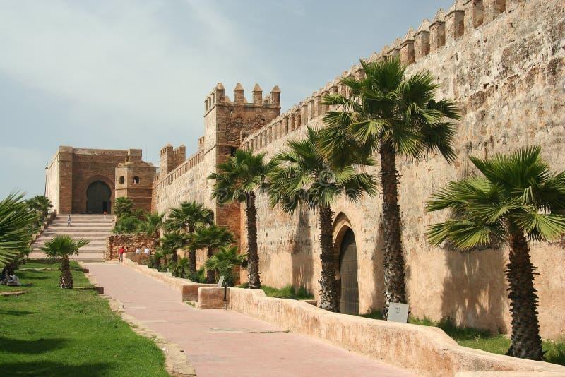 De muren van Rabat stock foto