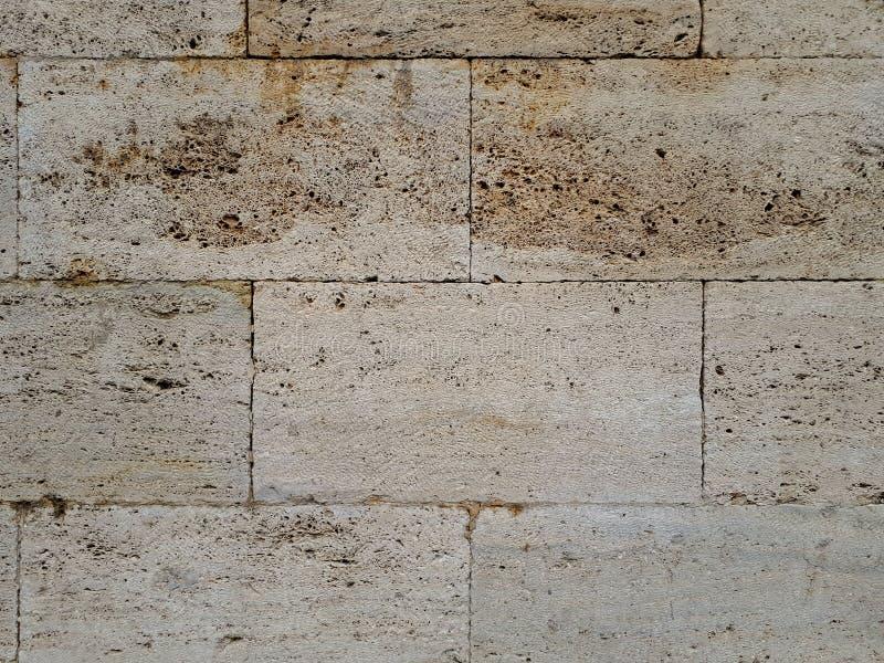De muren zijn van lichte baksteen stock foto