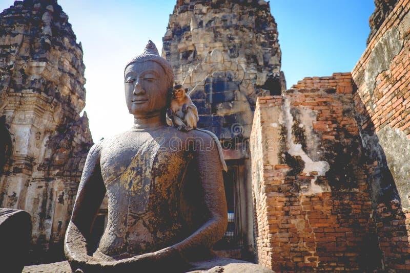 De musea van Thailand in phra prang SAM van de lopburinaam yod stock foto