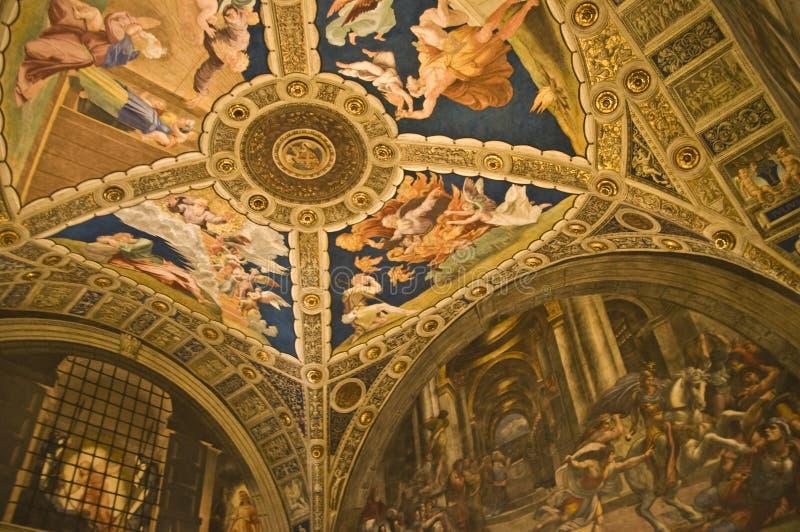De Musea van Vatikaan stock afbeeldingen