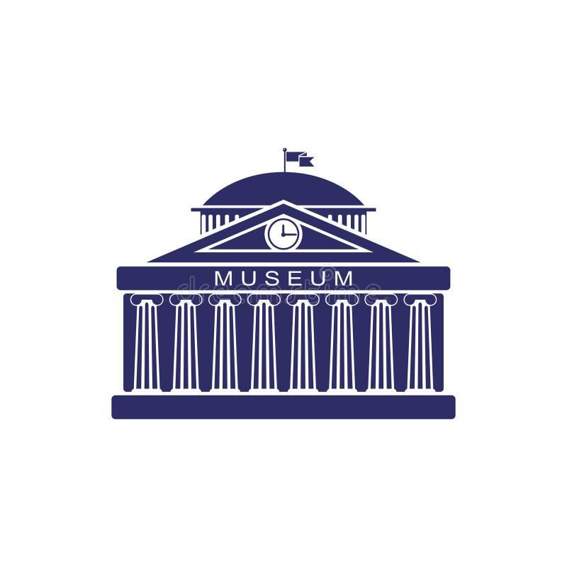 De museumbouw teken De klassieke Roman architectuur van Griekenland vector illustratie