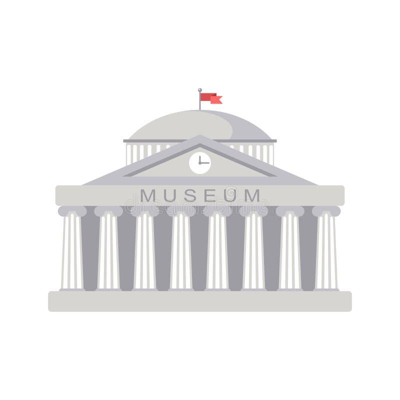 De museumbouw teken De klassieke Roman architectuur van Griekenland stock illustratie