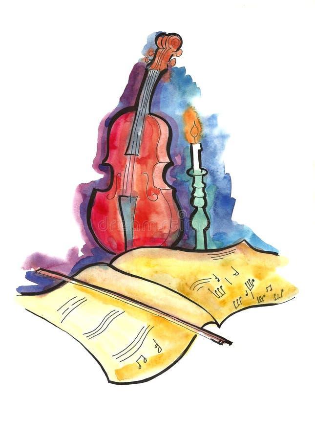De musical toujours durée illustration de vecteur