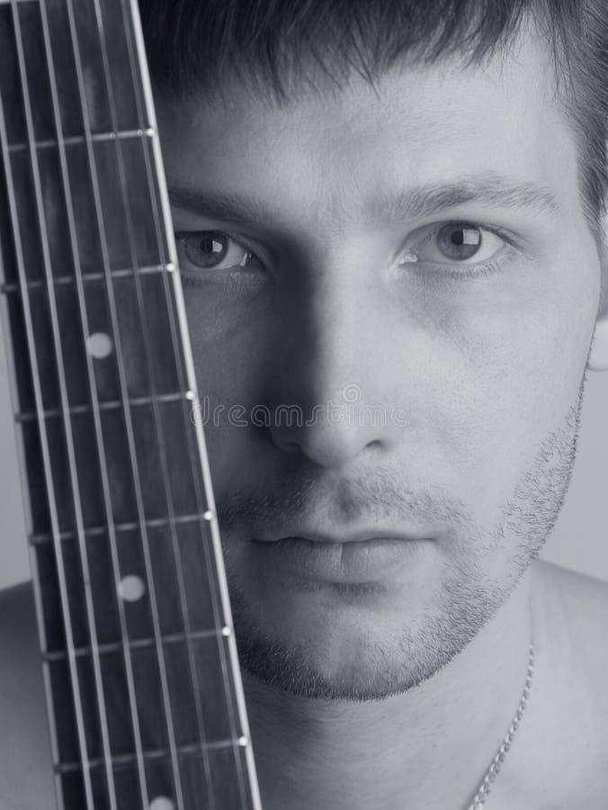 De musicus de gitarist royalty-vrije stock fotografie