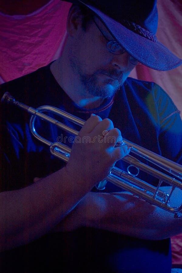 De musicus van blauw   royalty-vrije stock fotografie