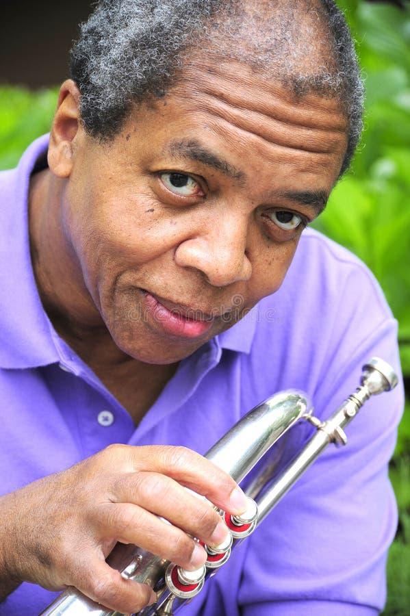 De Musicus van de jazz stock fotografie