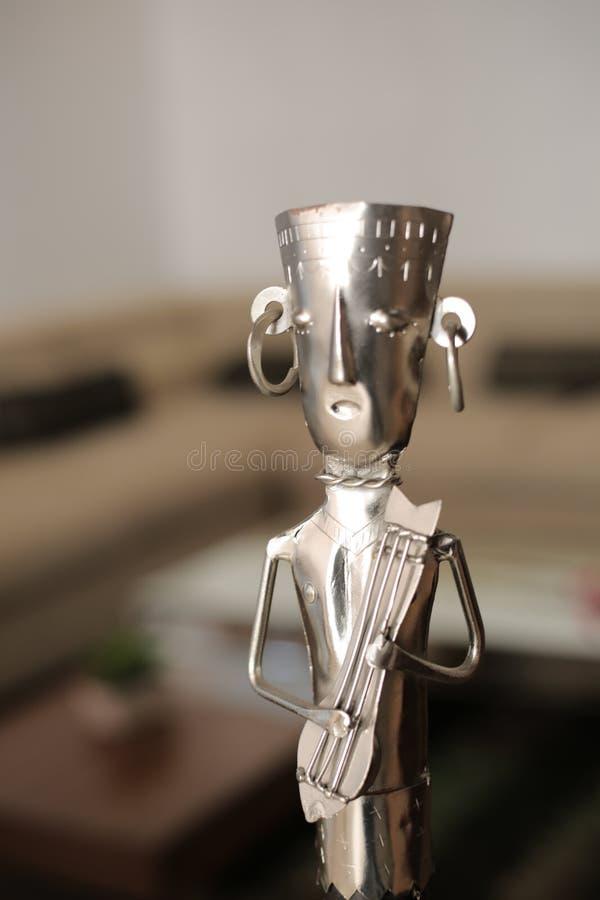 De Musicus van het metaalambacht royalty-vrije stock foto