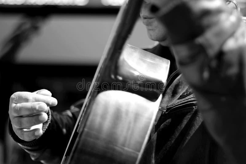 De musicus van de straat het spelen gitaar stock fotografie