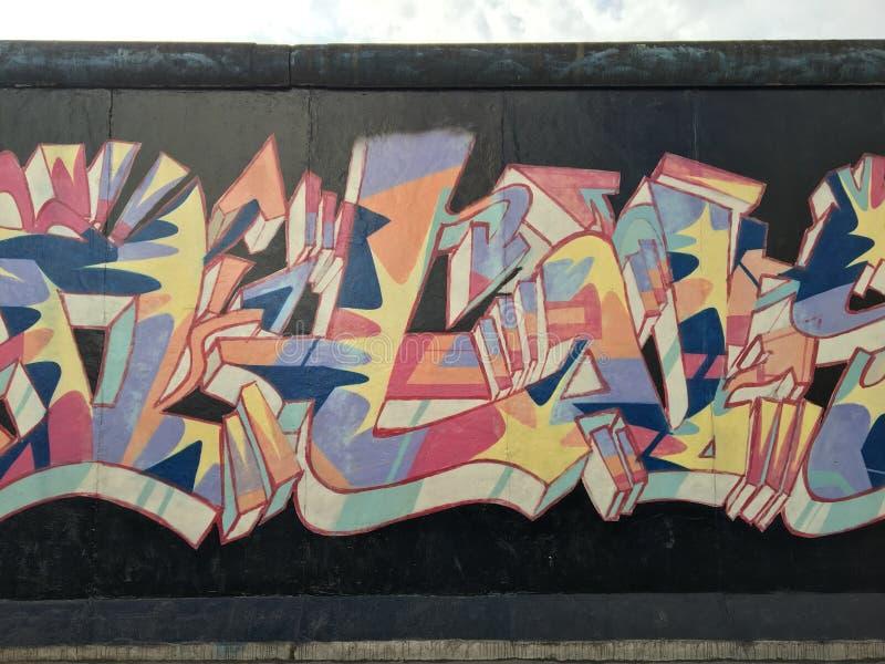 De Muur van Berlijn stock foto