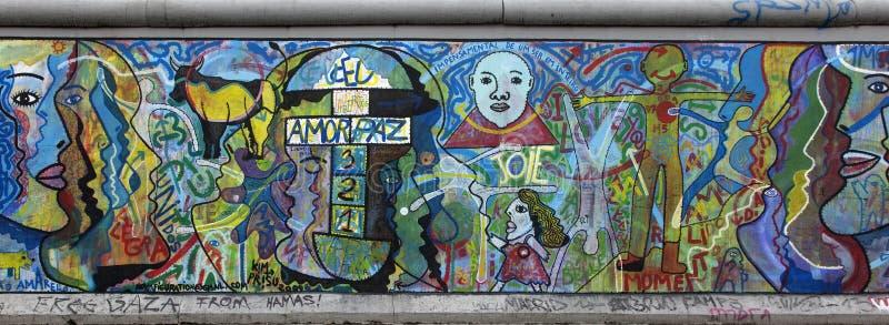 De Muur van Berlijn stock afbeelding