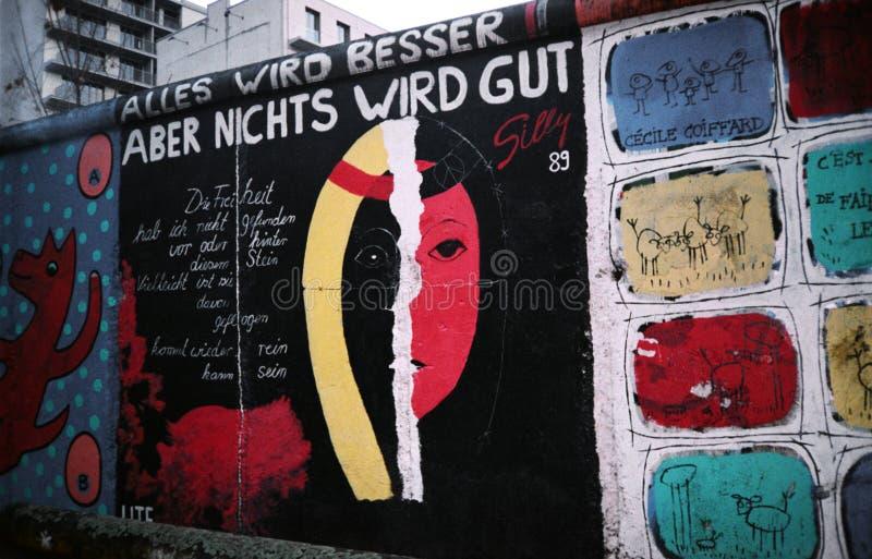 De Muur van Berlijn. Duitsland stock afbeelding