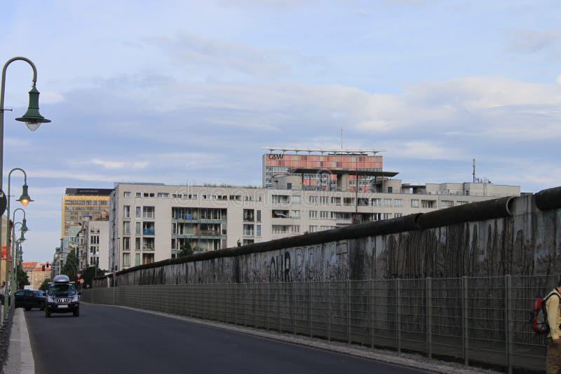 De muur van Berlijn Duitsland stock foto