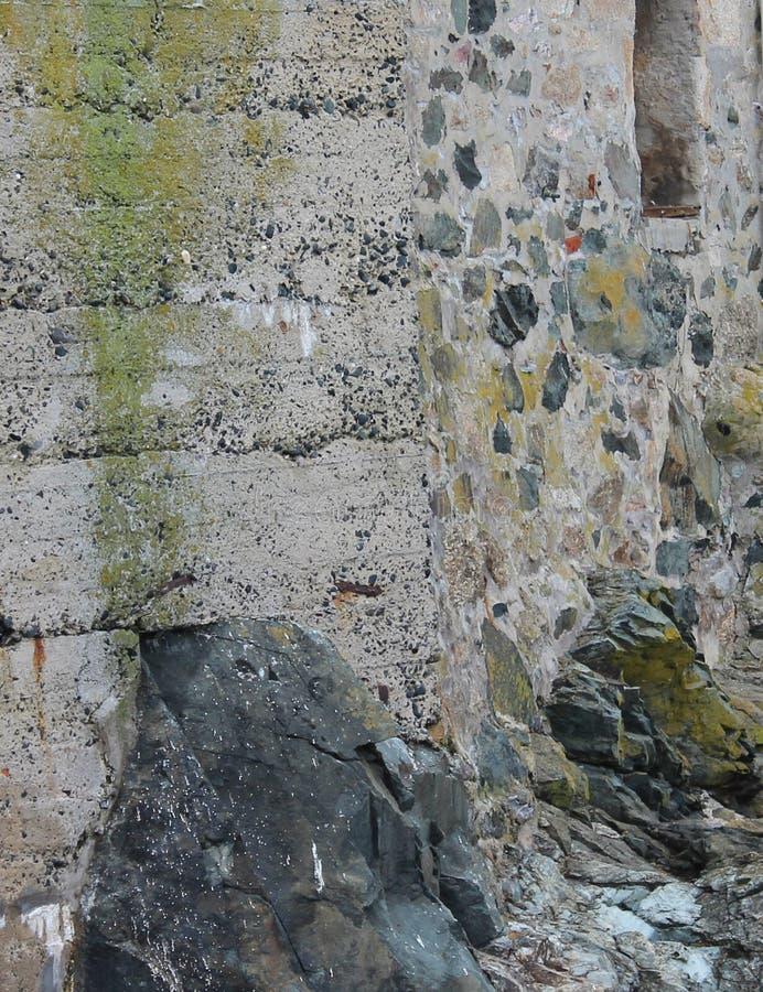 De muur van Cornwall in St Ives royalty-vrije stock afbeeldingen
