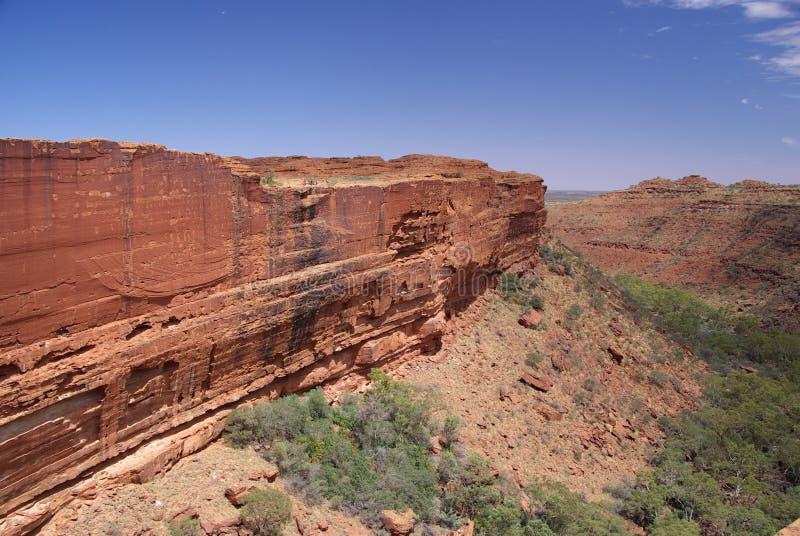 De Muur van de Canion van de koning stock fotografie