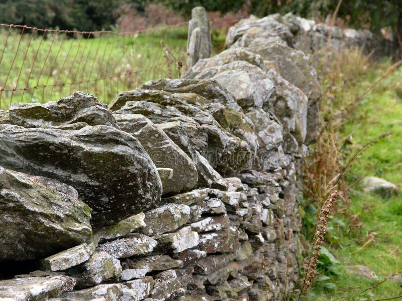De Muur van de droge Steen stock fotografie