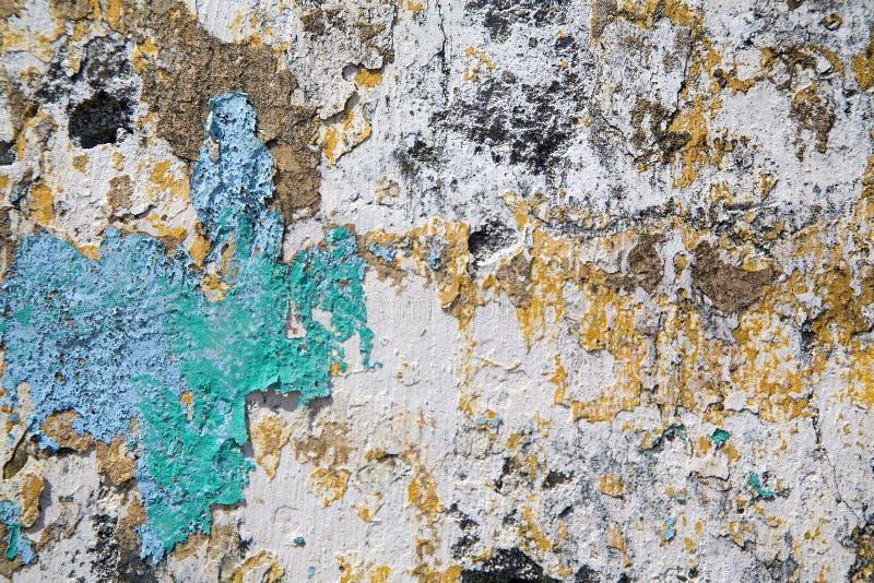 De Muur van de Gipspleister van de schil stock foto