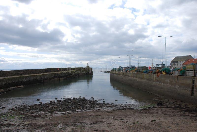 De Muur van de Haven van Pittenweem stock fotografie