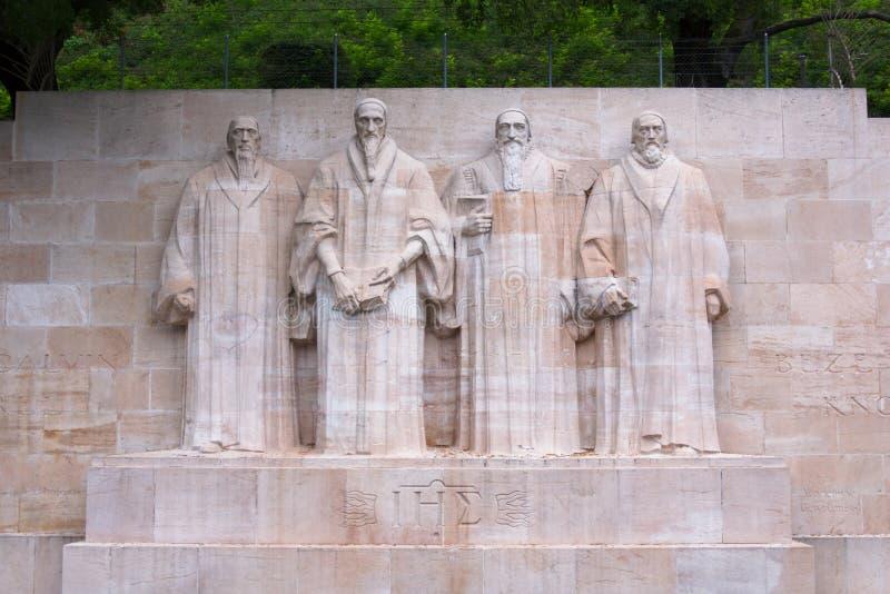 De muur van de hervorming in Genève royalty-vrije stock afbeelding