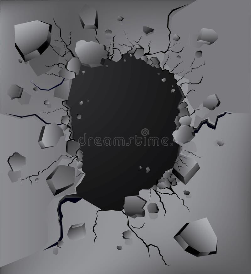De muur van de neerstorting vector illustratie