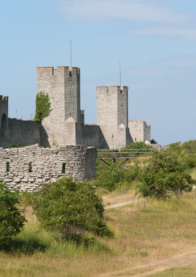 De Muur van de stad stock afbeelding