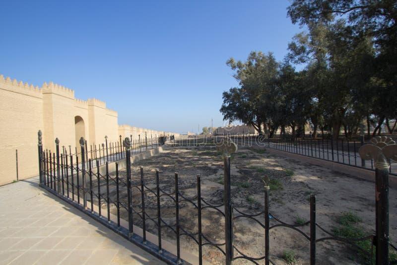 De muur van de stad van Babylon stock fotografie